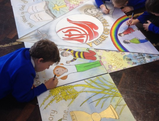 A school jigsaw created to mark The Year of the Faith
