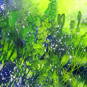 Green Spray - 860mm x 860mm - Sold