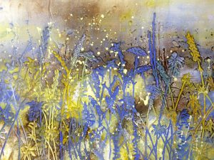 Cornflower - 900mm x 700mm - Sold