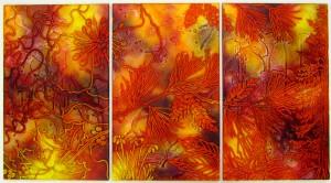 Eden (triptych) - 1350mm x 700mm - £995